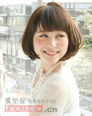 日系蘑菇头发型 打造甜美可爱小魔女 - 百科教程网_[.