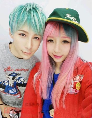 日式原宿风颜色v颜色引领时尚潮流发型-魅力可爱头发百科图片