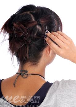 戴假发步骤之短发包裹法