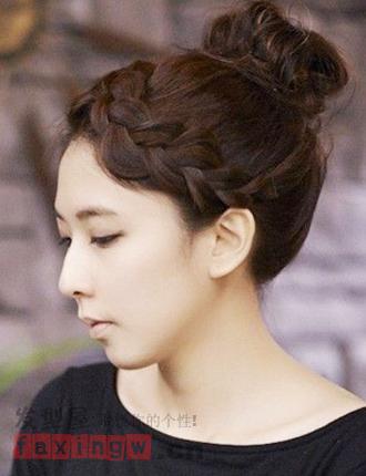 甜美韩式编发花苞头 可爱减龄瞬间变美