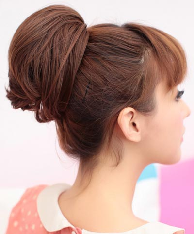 超美丸子头发型 甜美可爱显青春