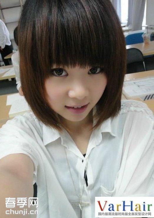 帅气可爱女生短发