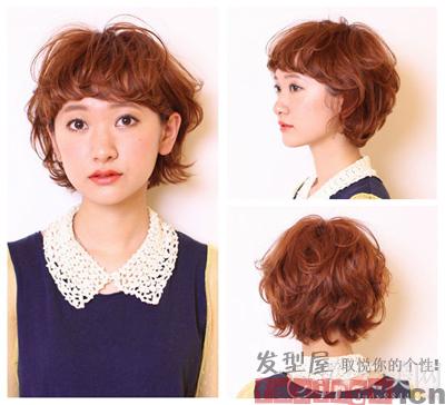 猛女烫发染发造型 个性发型任你选图片