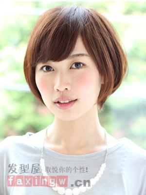 生活百科女生发型发型设计>圆脸女士齐肩样的短发齐耳大全最2018图片适合发流行短发发型图片