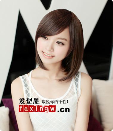 2013年圆脸女生流行的短发发型