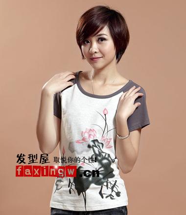 2013新款美女图片适合的女生圆脸发型v美女主短发播粤语图片