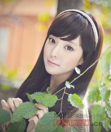 最新韩系中长发烫发发型