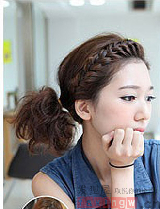 齐肩短发怎么扎好看 韩式编发优雅时尚提气质