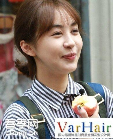 韩国女生斜刘海短发 韩国女生中短发发型