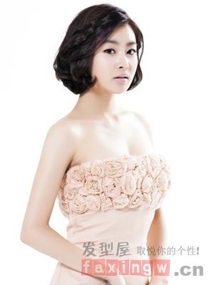 韩式婚纱照新娘发型盘点 清新优雅公主范儿