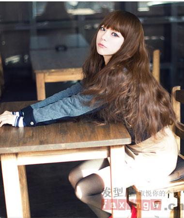 韩国中长发烫发发型图片图片