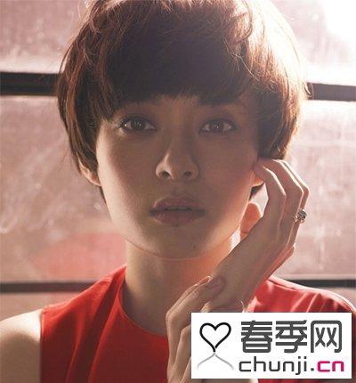 齐眉短圆刘海怎么剪 如何打理齐眉刘海 无刘海短烫发发型图片