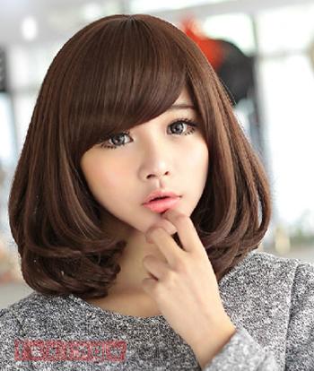 2014韩式中短发烫发发型 时尚娇俏v脸必备图片