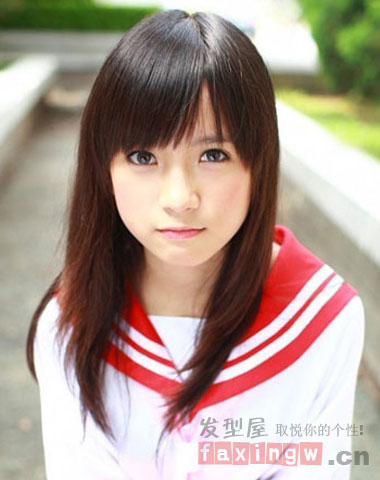 长脸型适合的刘海发型 瓜子脸女生必修术图片
