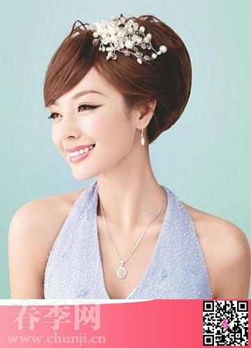 2014年流行新娘发型 清新自然韩式新娘发型图片