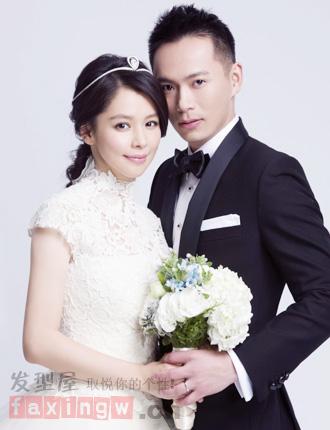 徐若瑄李云峰巴厘岛浪漫婚礼 新娘发型恬静端庄