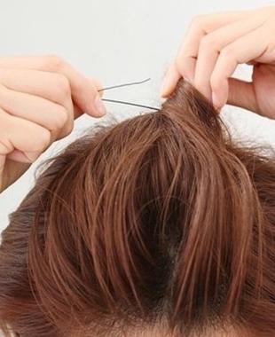 图解短发刘海编发教程 diy优雅个性短发发型