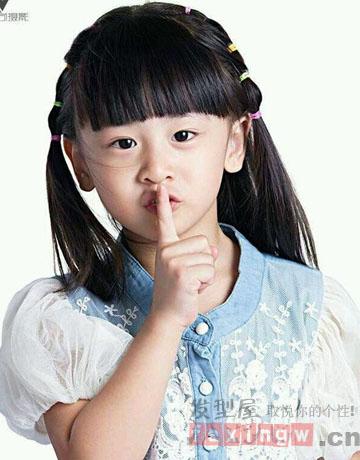 小公主cindy田雨橙超萌扎小辫发型 辣妈必学图片