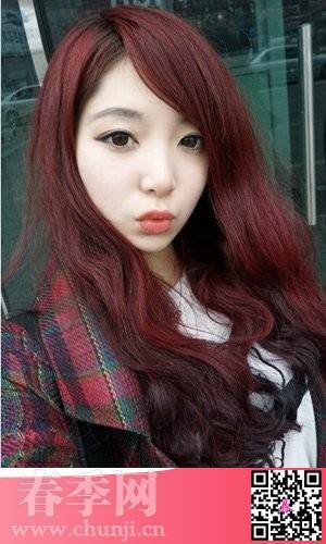 14年网络流行女生发型和染发颜色图片