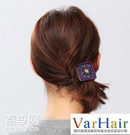 短发怎么扎简单图解 短发扎头发简单好看