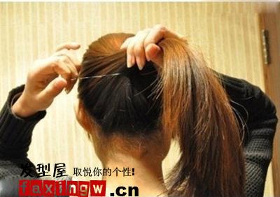 韩式盘发图解 简单学会如何扎头发