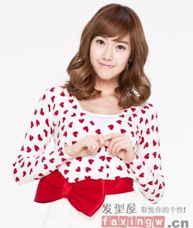 少女时代甜美cf代言 暖萌韩式发型圣诞节约会必修
