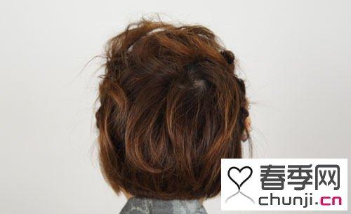 扎发图解 短发造型简单时尚.沙宣刘海扎发图解 用梳子把头发