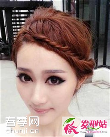 个性女生长发编发发型 尽显优雅迷人气质图片