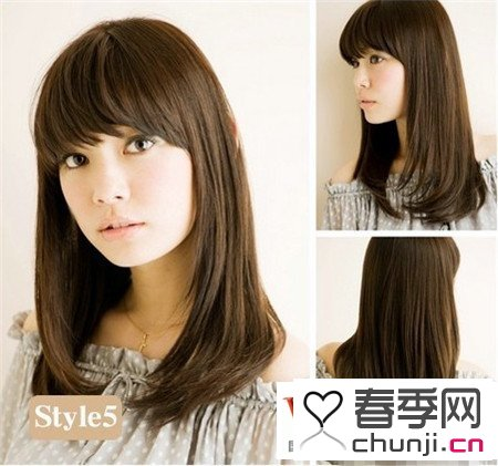 大圆脸适合的长发发型 圆脸中长发发型视频 圆脸发型设计中长发图片