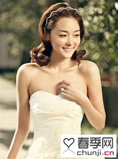 韩式式唯美新娘发型图片
