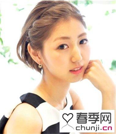女生修颜甜美扎发发型 韩式简单扎发最有气质