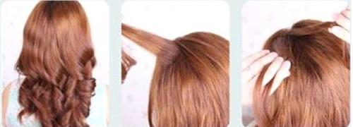 韩式盘发图解,淑女发型图片