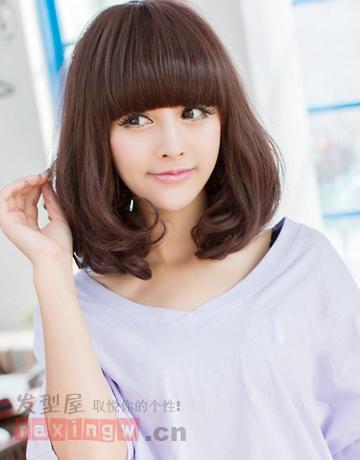 2014年韩国长发流行女生美腻处女最讨巧-百照发型生私图片