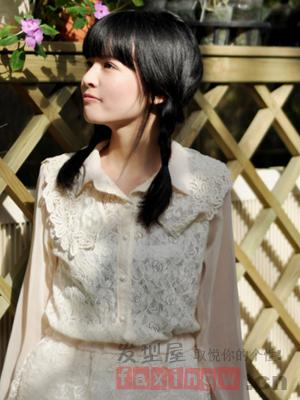 韩系秋季甜美发型扎法 萌妹必学可爱俏皮