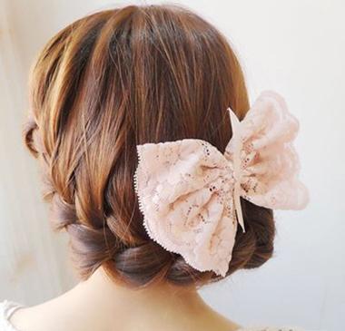 超唯美的韩式麻花辫盘发 打造优雅发型图片
