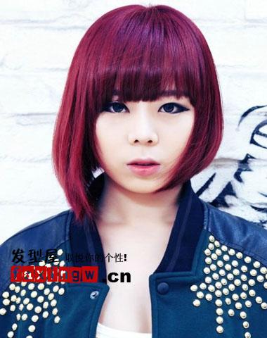 2013韩国女生潮流发型图片 魅力染发释放个性 高清图片