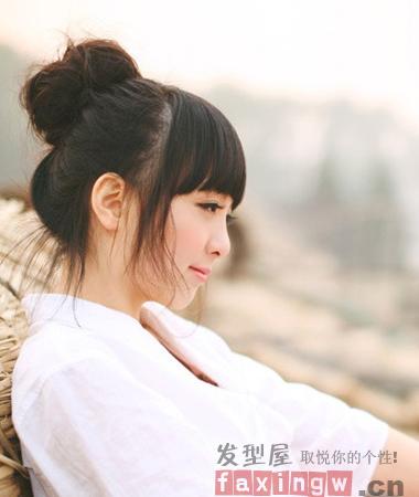韩式丸子头花苞头推荐 清新可爱夏季发型