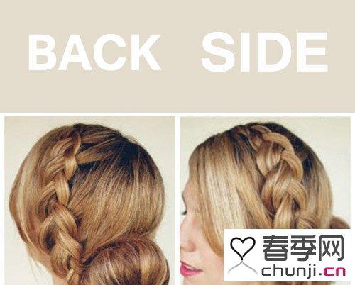 圆脸新娘发型图解 最新韩版新娘发型图解