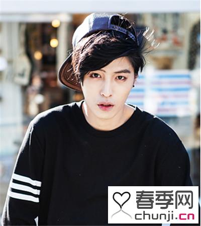 韩国个性男士斜刘海男发 为你的时尚加分图片