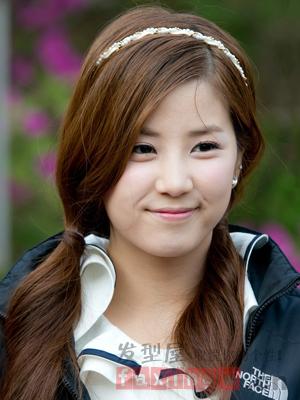 2014女生韩式发型扎法a女生扎发超显嫩兰博基尼女生的适合图片