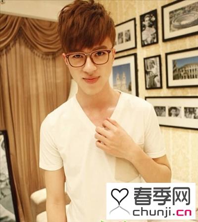 韩式男生卷发发型 微卷短发营造时尚形象