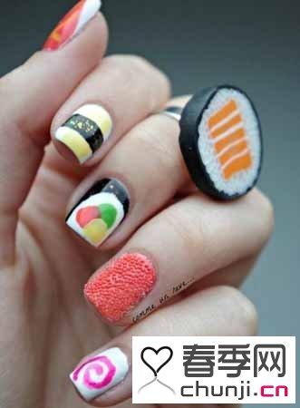 可爱日本萌系美甲图片