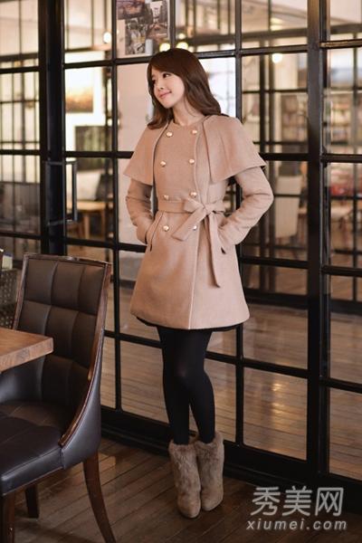 淑女风格冬装搭配图片 呢子大衣御寒&优雅