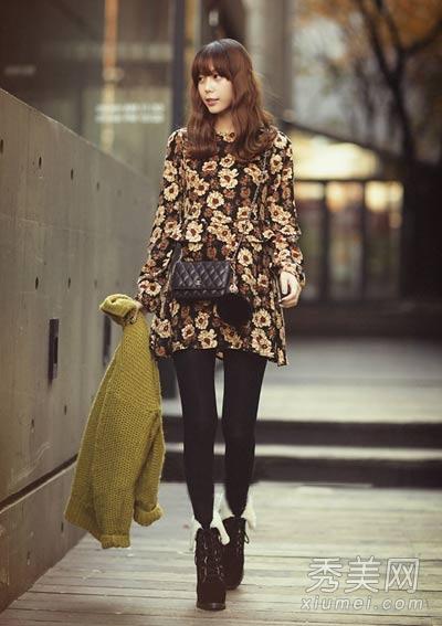 冬装连衣裙搭配图片 打底穿冬季必备