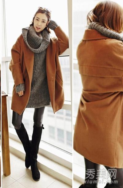 2013冬季流行搭配 大衣配裙子最时髦 高清图片