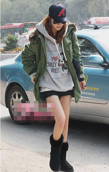 街拍韩国模特时尚混搭技巧