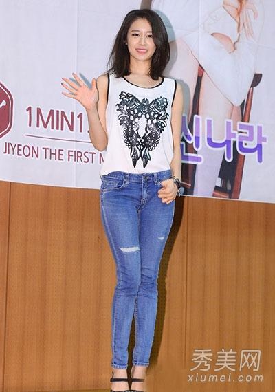 韩国女星对破洞牛仔裤的狂热