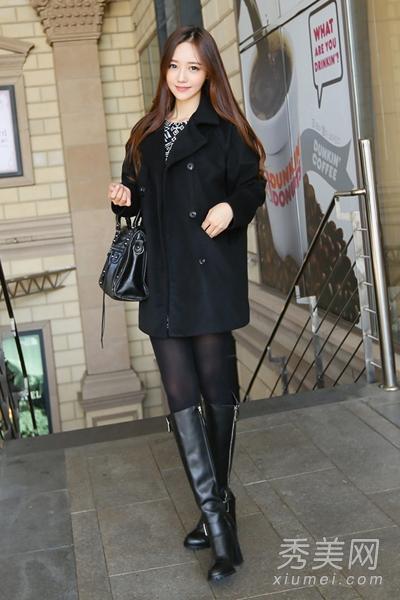 2013冬季流行服饰 韩系毛呢外套最优雅 高清图片