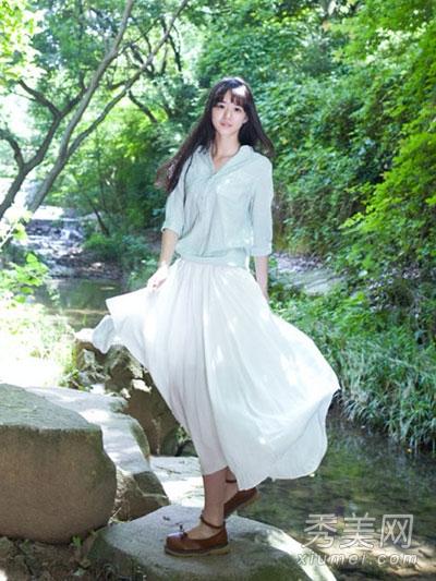 复古风半裙 打造恬静浪漫文艺范
