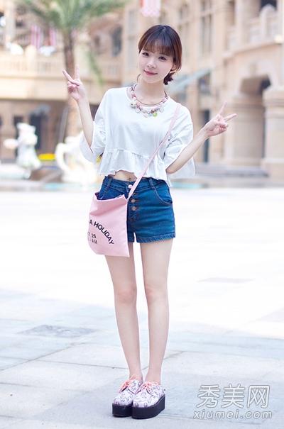 牛仔裙or牛仔短裤 10种搭配最时尚
